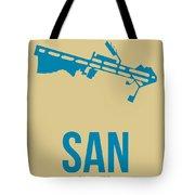 San San Diego Airport Poster 3 Tote Bag