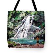 San Sebastian Waterfall Tote Bag