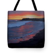 San Simeon Sunset Tote Bag