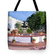 San Xavier Courtyard Tote Bag