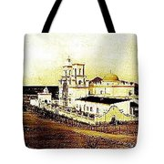 San Xavier Del Bac Mission As Seen From An Adjacent Hill C-1913-2013.  Tote Bag
