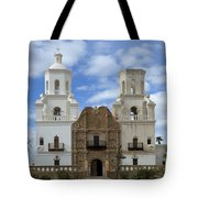 San Xavier Del Bac Mission Facade Tote Bag