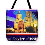 San Xavier Mission Postcard #1  With Lettering No Date-2013  Tote Bag