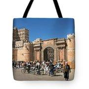 Sanaa City In Yemen  Tote Bag