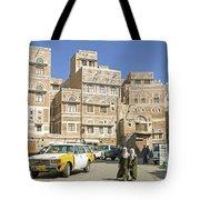 Sanaa Old Town In Yemen Tote Bag