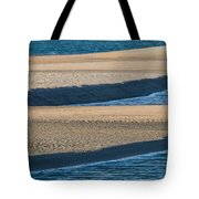Sand And Water Textures Abstract Tote Bag