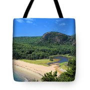 Sand Beach And The Beehive Tote Bag