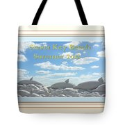 Sand Dolphins - Digitally Framed Tote Bag