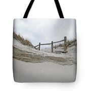 Sand Dune And Fence Tote Bag