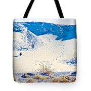 Sand Dune Bordering Salt Creek Trail In Death Valley National Park-california Tote Bag