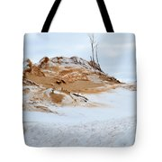 Sand Dune In Winter Tote Bag