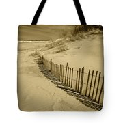 Sand Dunes And Fence Tote Bag