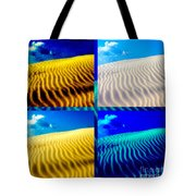 Sand Dunes Collage Tote Bag