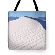 Sand Dunes In A Desert, White Sands Tote Bag