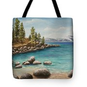 Sand Harbor Lake Tahoe Tote Bag
