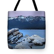 Sand Harbor Rocks Tote Bag