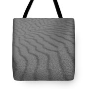 Sand In Black And White Tote Bag