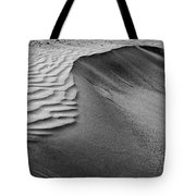 Sand Pattern Abstract - 2 - Black And White Tote Bag