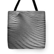 Sand Pattern Abstract - 3 - Black And White Tote Bag