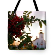 Sand Point Lighthouse Escanaba Michigan  Tote Bag