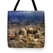 Sand Storm Approaching Phoenix Photo Art Tote Bag