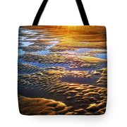 Sand Textures At Sunset Tote Bag