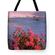 Sand Verbenas At Sunset White Sands National Monument Tote Bag