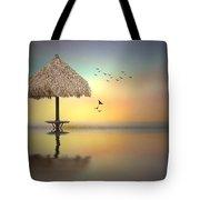 Sandbar Sunset Tote Bag