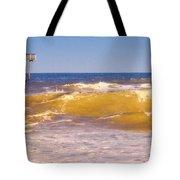 Sandbridge Pier Tote Bag