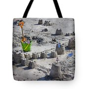 Sandcastle Squatters Tote Bag by Betsy Knapp