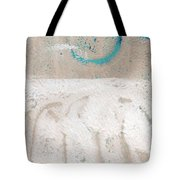 Sandcastles- Abstract Painting Tote Bag by Linda Woods