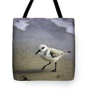 Sanderling On The Shore Tote Bag