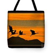 Sandhill Crane At Sunset Tote Bag