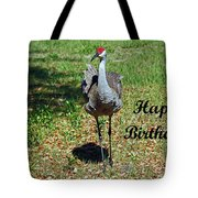 Sandhill Crane Birthday Tote Bag