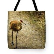 Sandhill Crane On The Road Tote Bag