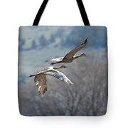 Sandhill Crane Pair 2 Tote Bag
