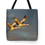 Sandhill Crane Pair Tote Bag