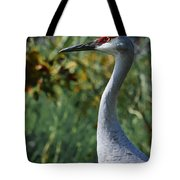 Sandhill Crane Profile Tote Bag