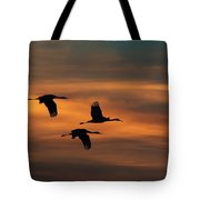 Sandhill Crane Sunset Tote Bag