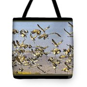 Sandhill Cranes Startled 2 Tote Bag