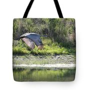 Sandhill Over The Pond Tote Bag