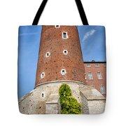 Sandomierska Tower Of Wawel Castle In Krakow Tote Bag