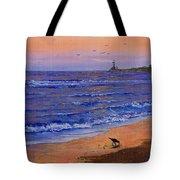 Sandpiper At Sunset Tote Bag