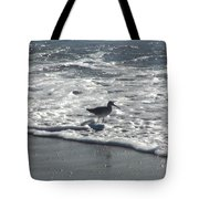 Sandpiper In The Surf Tote Bag