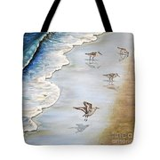 Sandpipers On The Beach Tote Bag