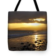 Sandy Bay At Dusk Tote Bag