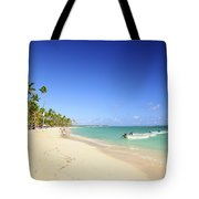 Sandy Beach On Caribbean Resort  Tote Bag