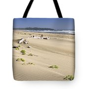 Sandy Beach On Pacific Ocean In Canada Tote Bag