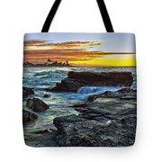 Sandy Beach Sunrise Tote Bag