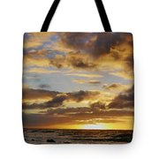 Sandy Beach Sunrise Tote Bag